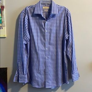 Michael Kors No-Iron Checked Dress Shirt 16/35